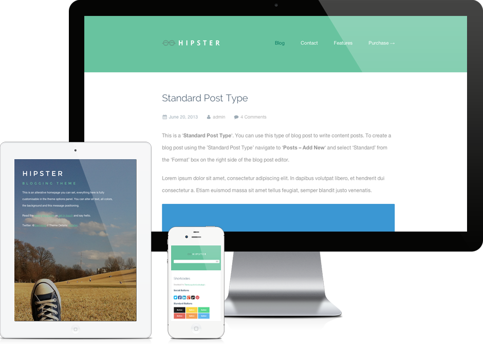 Hipster - WordPress Theme