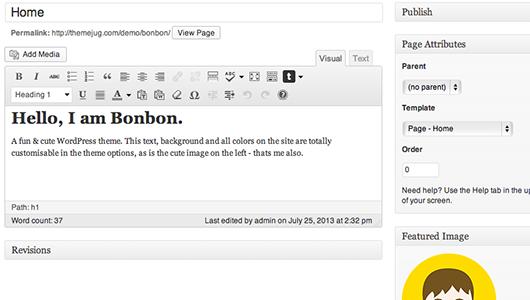 Bonbon Homepage Content